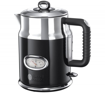 Save £40 at Currys on RUSSELL HOBBS Retro 21671 Jug Kettle - Black, Black