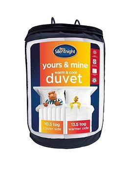 Save £9 at Very on Silentnight Yours And Mine 10.5/13.5 Tog Duvet In Double And King Sizes