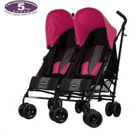 Save £31 at Argos on Obaby Apollo Black and Grey Double Pushchair - Pink