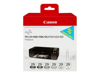 Save £29 at Ebuyer on Canon PGI-29 Black  Grey Multi-Pack - 6 Inks