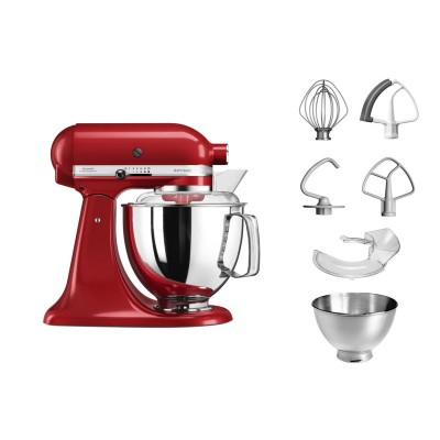 Save £48 at PRCDirect on KitchenAid 5KSM175PSBER 4.8 Litre Artisan Stand Mixer, Empire Red