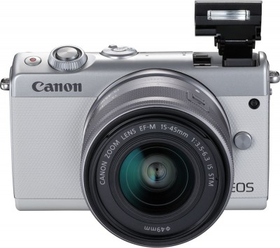 Save £100 at Currys on Canon EOS M100 Mirrorless Camera with EF-M 15-45 mm f/3.5-6.3 IS STM Lens - White, White
