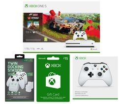 Save £693 at Currys on MICROSOFT Xbox One S, Forza Horizon, LEGO Speed Champions, Xbox Live £15 Gift Card, Docking Station & Wireless Controller Bundle