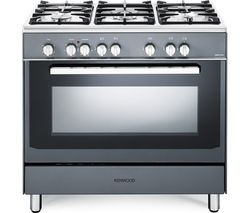 Save £70 at Currys on KENWOOD CK306SL 90 cm Dual Fuel Range Cooker - Slate Grey & Chrome