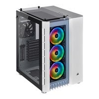 Save £31 at Scan on Corsair Crystal Series 680X RGB White Dual Chamber Mid Tower PC Case, Tempered Glass Windows, E-ATX~mITX, 3x LL120 Fans
