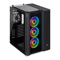 Save £31 at Scan on Corsair Crystal Series 680X RGB Black Dual Chamber Mid Tower PC Case, Tempered Glass Windows, E-ATX~mITX, 3x LL120 Fans