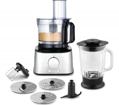 Save £31 at Currys on KENWOOD MultiPro Compact FDM300SS Food Processor - Black & Silver, Black