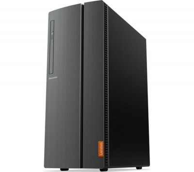 Save £80 at Currys on LENOVO IdeaCentre 510A-15ARR AMD Ryzen 5 Desktop PC - 1 TB HDD & 128 GB SSD, Black, Black
