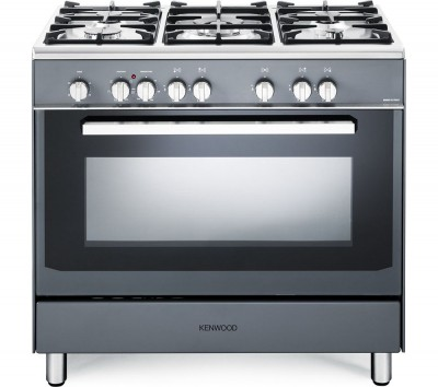 Save £70 at Currys on KENWOOD CK306SL 90 cm Dual Fuel Range Cooker - Slate Grey & Chrome, Grey