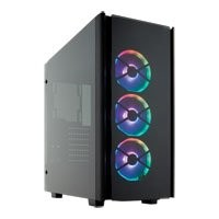 Save £41 at Scan on Corsair Obsidian 500D RGB SE Mid Tower PC Case w/ Tempered Glass Windows, ATX/mATX/mITX, 3x 120mm Light Loop RGB Fans
