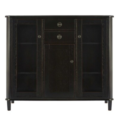 Save £113 at Laura Ashley on Henhsaw Black Low Display Cabinet