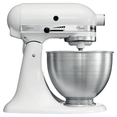 Save £100 at Appliance City on KitchenAid 5K45SSBWH Classic Stand Mixer 4.3 Litre - WHITE