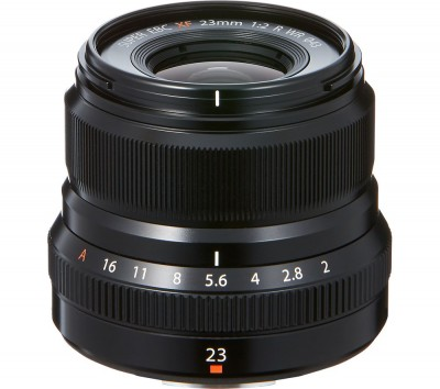 Save £100 at Currys on FUJIFILM Fujinon XF 23 mm f/2.0 R WR Wide-angle Prime Lens