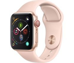 Save £130 at Currys on APPLE Watch Series 4 Cellular - Gold & Pink Sports Band, 40 mm