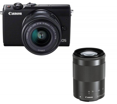 Save £200 at Currys on Canon EOS M100 Mirrorless Camera with EF-M 15-45 mm & 55-200 mm f/3.5-6.3 Lens
