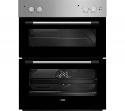 Save £30 at Currys on LOGIK LBUDOX18 Electric Built-under Double Oven - Silver, Silver