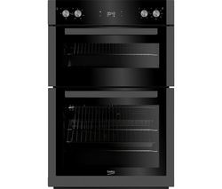 Save £70 at Currys on BEKO Pro BXDF29300Z Electric Double Oven - Black Steel