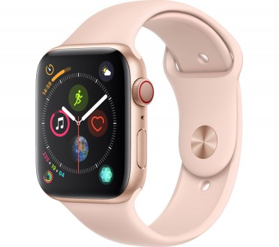 Save £140 at Currys on APPLE Watch Series 4 Cellular - Gold & Pink Sports Band, 44 mm, Gold