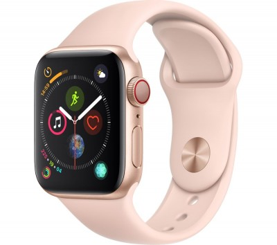 Save £130 at Currys on APPLE Watch Series 4 Cellular - Gold & Pink Sports Band, 40 mm, Gold