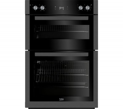 Save £70 at Currys on BEKO BXDF29300Z Electric Double Oven - Black Steel, Black
