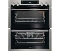 Save £100 at Currys on AEG SurroundCook DUE431110M Electric Built-under Double Oven - Stainless Steel & Black