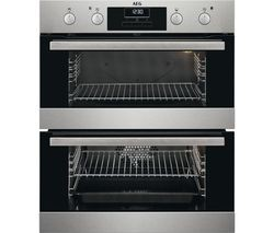 Save £100 at Currys on AEG SurroundCook DUB331110M Electric Built-under Double Oven - Stainless Steel