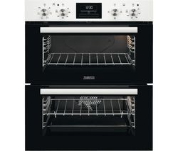 Save £70 at Currys on ZANUSSI ZOF35601WK Electric Built-under Double Oven - White Steel