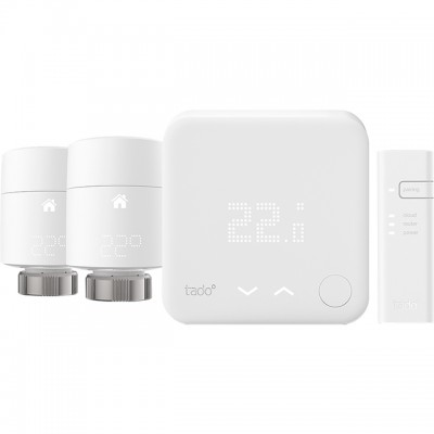 Save £20 at AO on tado Smart Thermostat - Starter Kit V3+ Includes Two Add-on Smart Radiator Thermostats - DIY Install - White