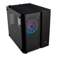 Save £30 at Scan on Corsair Crystal 280X RGB Black MicroATX PC Case w/ Tempered Glass Window, MicroATX/Mini-ITX, 2x120mm Light Loop RGB Fans