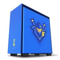 Save £41 at Scan on NZXT H700i Ninja Special Edition, Blue/Yellow, Mid Tower PC Case, Tempered Glass Window, Smart Control, E-ATX/ATX