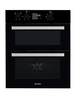 Save £40 at Very on Indesit Aria Idu6340Bl Built-Under Double Electric Oven - Oven Only