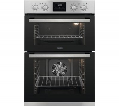 Save £70 at Currys on ZANUSSI ZOD35802XK Electric Double Oven - Stainless Steel, Stainless Steel