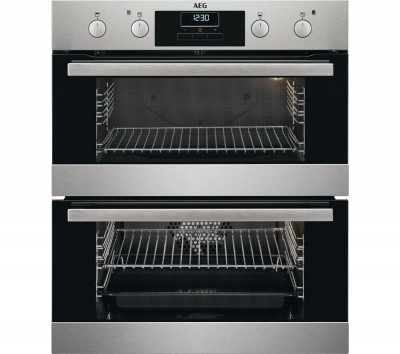 Save £100 at Currys on AEG DUB331110M Electric Double Oven - Stainless Steel, Stainless Steel