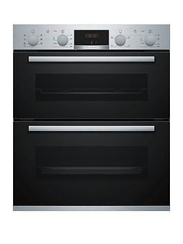 Save £100 at Very on Bosch Serie 4 Nbs533Bs0B Built-Under Electric Double Oven With 3D Hotair - Stainless Steel