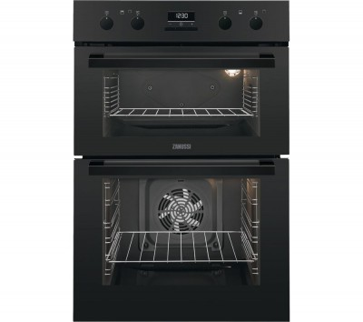 Save £50 at Currys on ZANUSSI ZOD35802BK Electric Double Oven - Black, Black