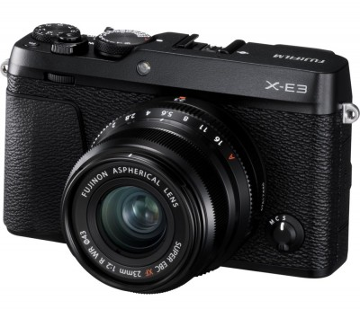 Save £150 at Currys on FUJIFILM X-E3 Mirrorless Camera with XF 23 mm f/2 Lens - Black, Black