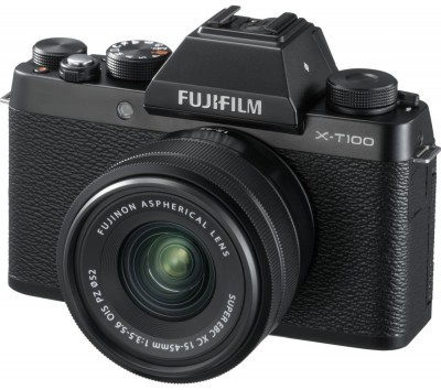 Save £200 at Currys on FUJIFILM X-T100 Mirrorless Camera with FUJINON XC 15-45 mm f/3.5-5.6 OIS PZ Lens - Black, Black