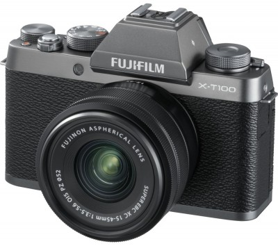 Save £200 at Currys on FUJIFILM X-T100 Mirrorless Camera with FUJINON XC 15-45 mm f/3.5-5.6 OIS PZ Lens - Dark Silver, Silver