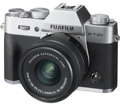 Save £280 at Currys on X-T20 Mirrorless Camera with FUJINON XC 15-45 mm f/3.5-5.6 OIS PZ Lens - Silver, Silver