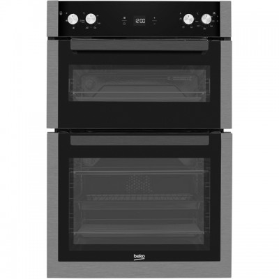 Save £70 at AO on Beko BXDF29300Z Built In Double Oven - Black Steel - A/A Rated