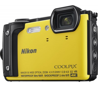 Save £50 at Currys on NIKON COOLPIX W300 Tough Compact Camera - Yellow, Yellow