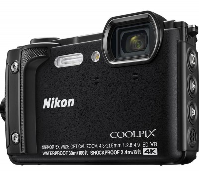 Save £50 at Currys on NIKON COOLPIX W300 Tough Compact Camera - Black, Black
