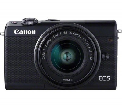 Save £50 at Currys on Canon EOS M100 Mirrorless Camera with EF-M 15-45 mm f/3.5-6.3 Lens - Black, Black
