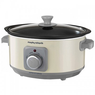 Save £4 at AO on Morphy Richards Evoke Sear And Stew 460013 3.5 Litre Slow Cooker - Cream