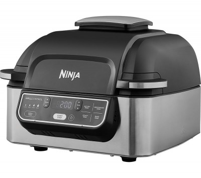 Save £20 at Currys on NINJA AG301UK Health Grill & Air Fryer - Black & Brushed Steel, Brushed Steel
