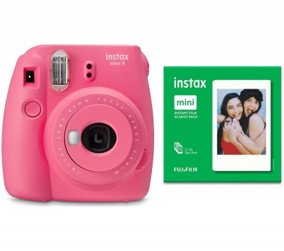 Save £15 at Currys on INSTAX mini 9 Instant Camera & 50 Shot Pack Bundle - Flamingo Pink, Pink