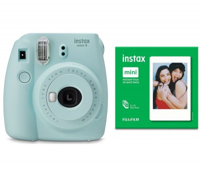 Save £15 at Currys on INSTAX mini 9 Instant Camera & Mini Film 50 Shot Bundle - Ice Blue, Blue