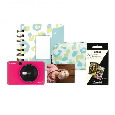Save £12 at Argos on Canon Zoemini C Sticker Instant Camera Bundle - Pink