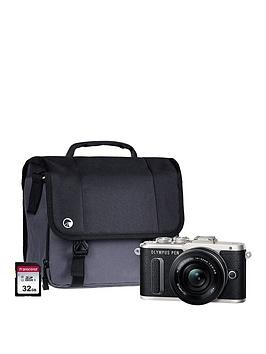 Save £160 at Very on Olympus Pen E-Pl8 Black Camera Kit Inc 14-42Mm Pancake Lens, 32Gb Sd Card  Case