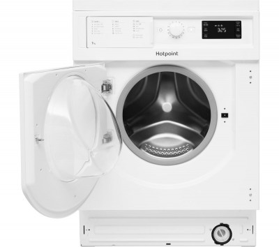 Save £50 at Currys on HOTPOINT BI WMHG 71484 UK Integrated 7 kg 1400 Spin Washing Machine, White